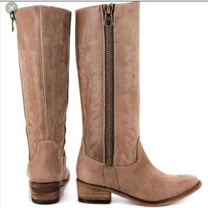 Steve Madden Graced Boots Taupe Leather 10M